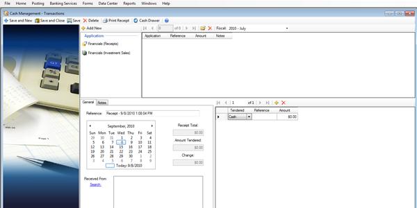 vision cash management cash receipting assistant software for